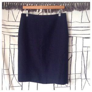 NWT Talbots Navy Textured Weave Pencil Skirt